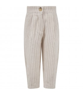 "Ivory ""Vera"" trousers for girl"