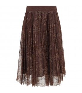 Brown skirt for girl