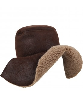 Brown hat for girl