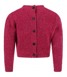 Purple cardigan for girl