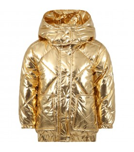 Gold jacket for girl