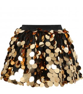 Black skirt for girl with sequins