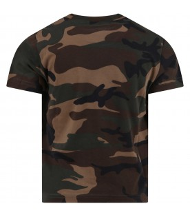 Camouflage t-shirt for boy with logo