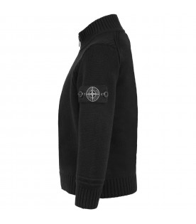 Black sweatshirt for kids with iconic patch