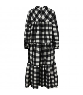 Checked dress for girl
