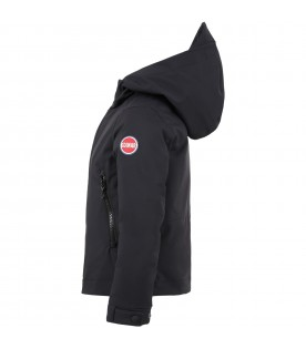 Black jacket for kids with iconic logo