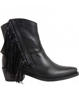 Black boots for girl