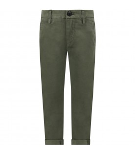 Green ''Gaubert'' pants for boy with iconic D