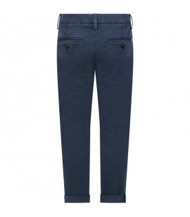 Blue ''Gaubert'' pants for boy with iconic D