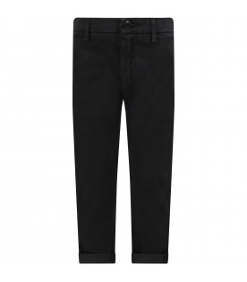 Black ''Gaubert'' pants for boy with iconic D