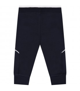 Blue pants for babykids with logo