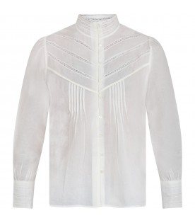Ivory blouse for woman