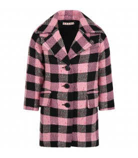 Multicolor coat for girl