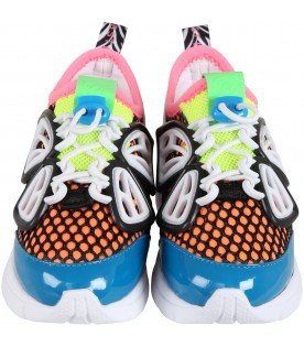 Multicolor sneakers for girl with butterfly