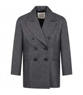 "Grey coat ""Gilda"" for kids"