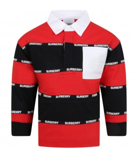 Mulicolor polo shirt for boy with logos