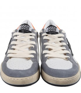 White ''Ball star''sneakers for kids